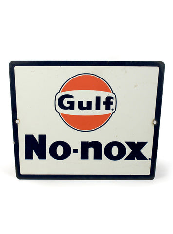 Vintage signs gulf no nox porcelain gas station sign front