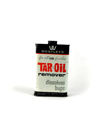Vintage Oil Cans - Westley's Tar & Oil Remover