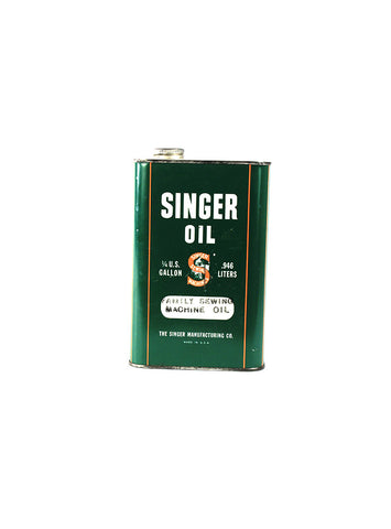 Vintage Oil Cans - Singer Sewing Machine Oil
