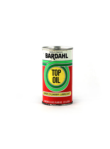 vintage oil cans bardahl top oil