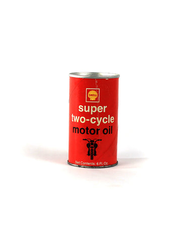 Vintage Oil Cans - Shell Motor Oil Motorcycle