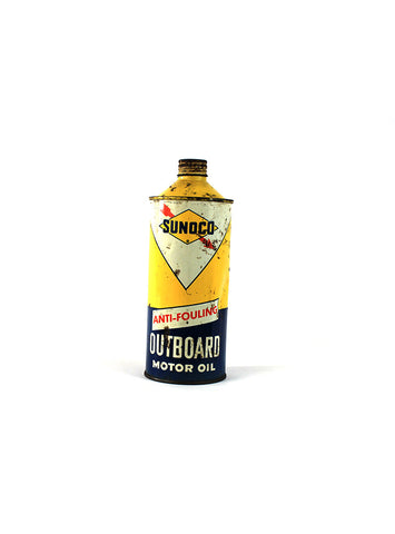 Vintage Oil Cans - Sunoco Outboard Motor Oil