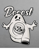 booost turbocharger ghost jdm slap stickers flat