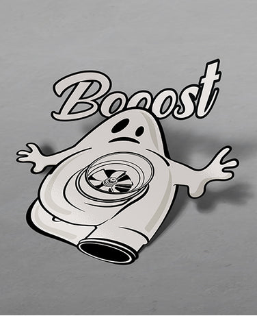 booost turbocharger ghost jdm slap stickers