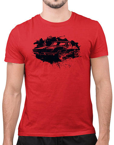 c2 vette splatter car shirts gifts for car lovers mens red