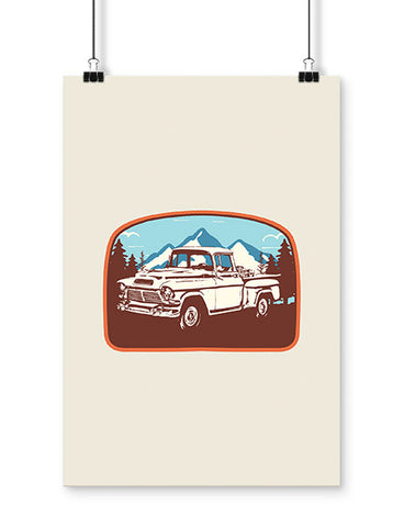 car posters 1957 GMC pickup truck