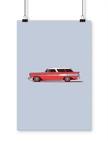 car posters 1957 safari wagon