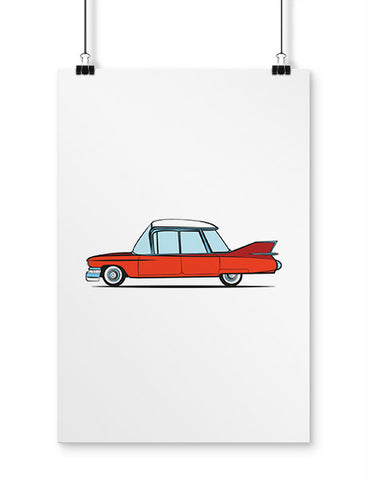 car posters 1959 caddy cartoon
