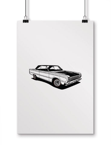car posters 1966 satellite muscle car art
