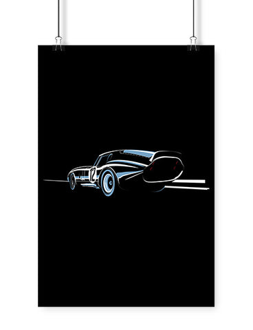 car posters csx race car art