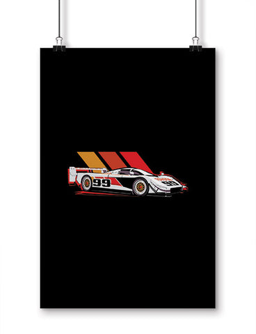 car posters gtp eagle race car art