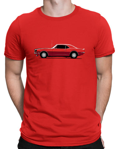 car shirts 1968 ss 396 muscle car shirts hockey stick stripe mens red
