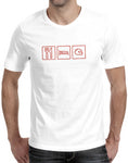 car shirts eat sleep helmet white mens