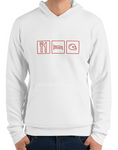 car shirts eat sleep helmet white premium hoodie