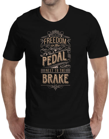 Car shirts mens freedom is the pedal next to the brake