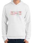 car shirts premium hoodie eat sleep piston white