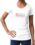 Car shirts womens eat sleep race track white