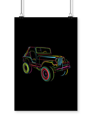 cj2 off roading poster