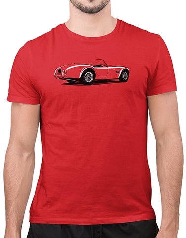 cobra t shirt classic car t shirts mens red