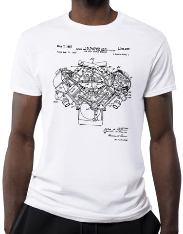 cross ram engine car shirts muscle car shirts mens white
