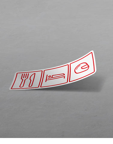 Eat Sleep Race Helmet Funny Car Sticker