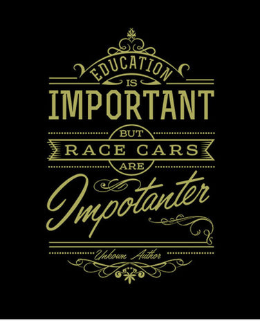education is important but race cars are importanter t shirts hoodies
