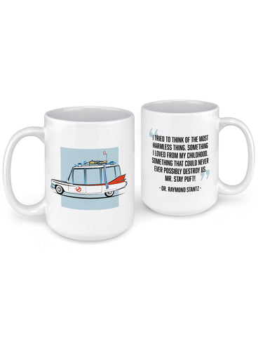 funny coffee mugs 1959 ghost caddy hearse front back