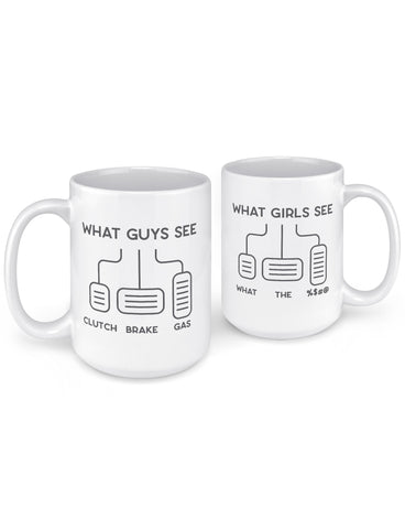 funny coffee mugs what guys see what girls see pedals pc version front back