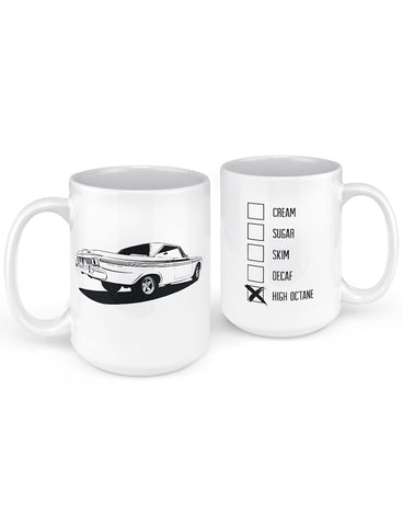 fury muscle car mug man cave gifts front back