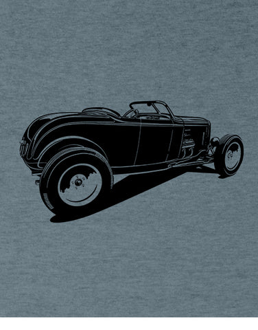 hot rod 1932 roadster high boy t shirt rat rod shirt