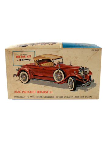 hubley 1930 packard roadster scale model kit box