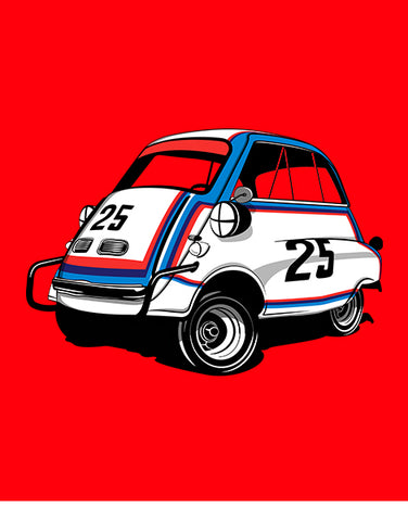 isetta race car shirt car shirts