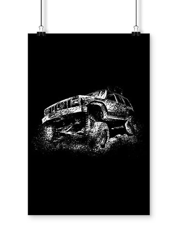 Lifted Truck Mudding Off Roading Poster