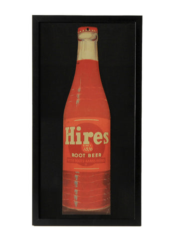 man cave decor hires root beer bottle cardboard framed