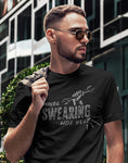 maybe swearing will help funny mens shirts mechanic t shirts 1