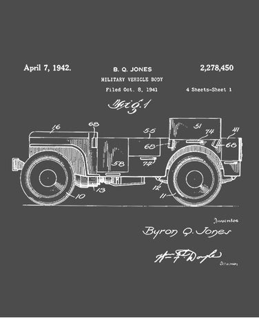 military t shirts 1942 willys military army vehicle patent t shirt flat