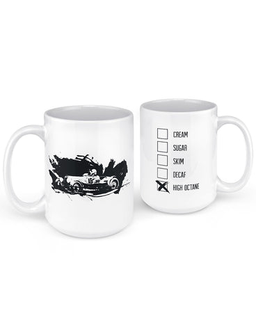 old race car mug gifts for car lovers