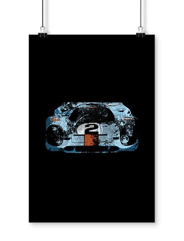 Porsche 917 Gulf Race Car Art