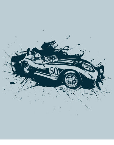 racing shirts scarab race car shirts flat blue