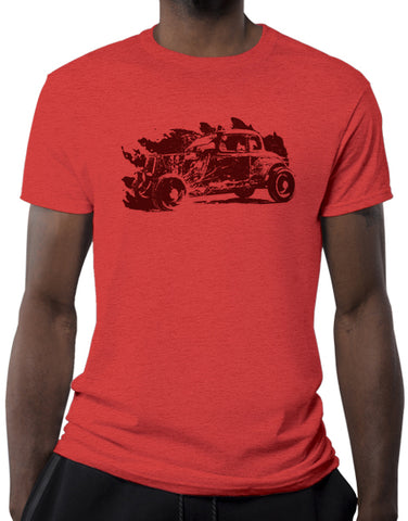 rat rod shirts hot rod t shirt mens car shirts heather red