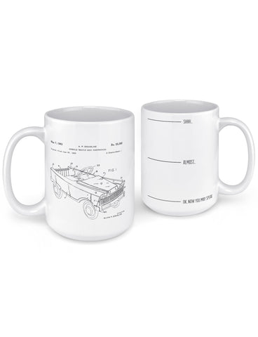 unique coffee mugs 1963 pedal car patent front back