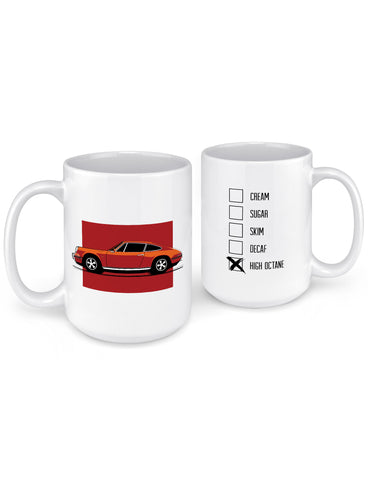 unique coffee mugs 911 sports car front back