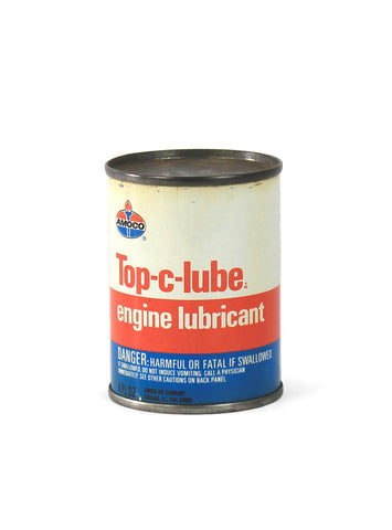 vintage oil cans amoco top-c-lube engine lubricant