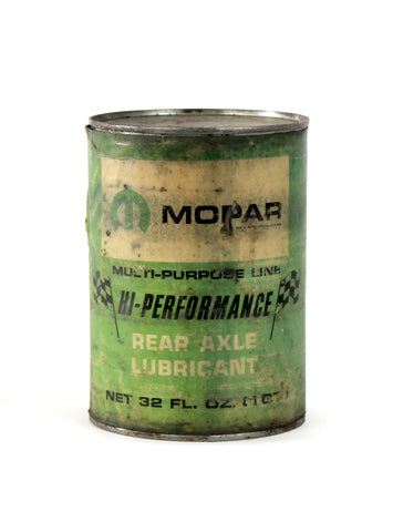 Vintage oil cans mopar hi-performance rear axle lubricant