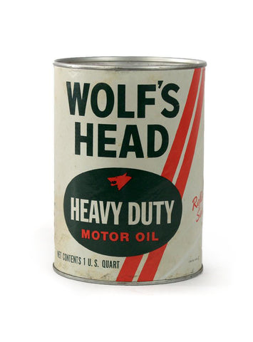 Vintage oil cans wolfs head heavy duty motor oil 1 quart