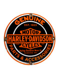 Vintage Signs 1952 Genuine Harley Davidson Motor Cycles Parts and Accessories Porcelain Sign front