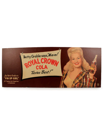 vintage signs betty grable royal crown cola