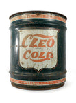vintage signs cleo cola 10 gallon can