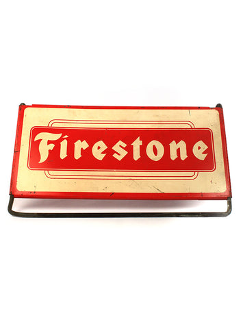vintage signs firestone tire stand mancave decor
