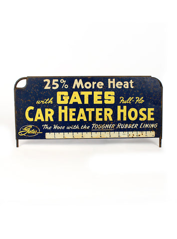 vintage signs gates full flo car heater hose front
